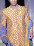 Burnt Orange Groom's Sherwani
